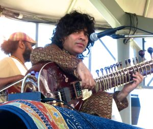 Sitar player Anwar Khurshid performs at Toronto's Harbourfront Centre.